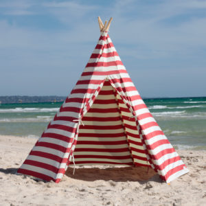 Red Teepee (Tipi) & Teepee Archives - OneFootIsland Sun Shades | Beach Tents | Teepees ...