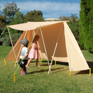 Tangerine Orange Sun Tent – Beach Shade